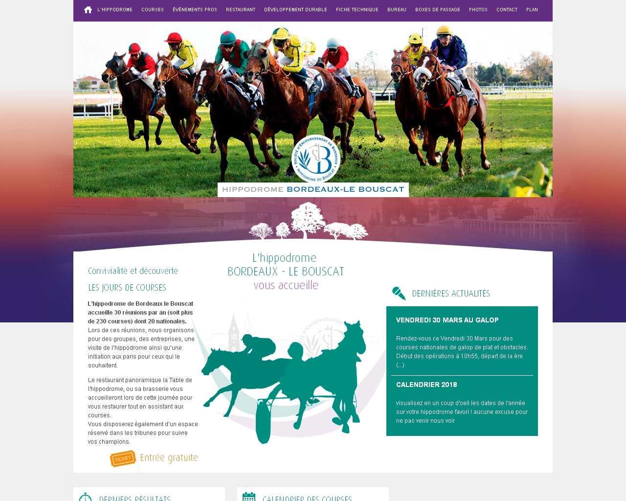 Visuel du site Hippodrome Bordeaux-Le Bouscat