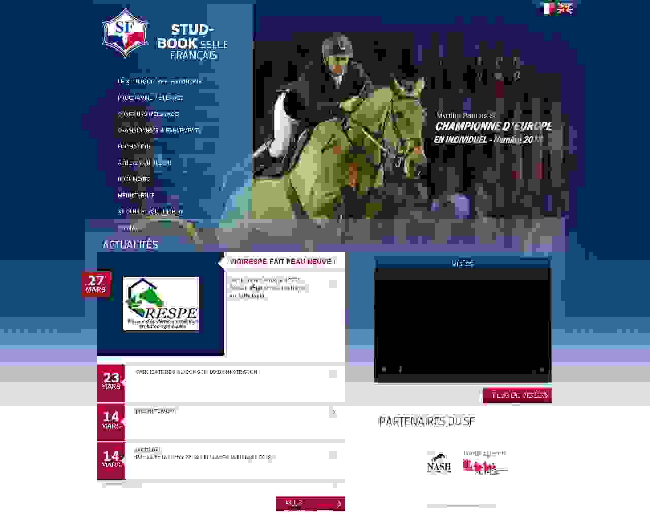 Visuel du site Stud-Book Selle Français