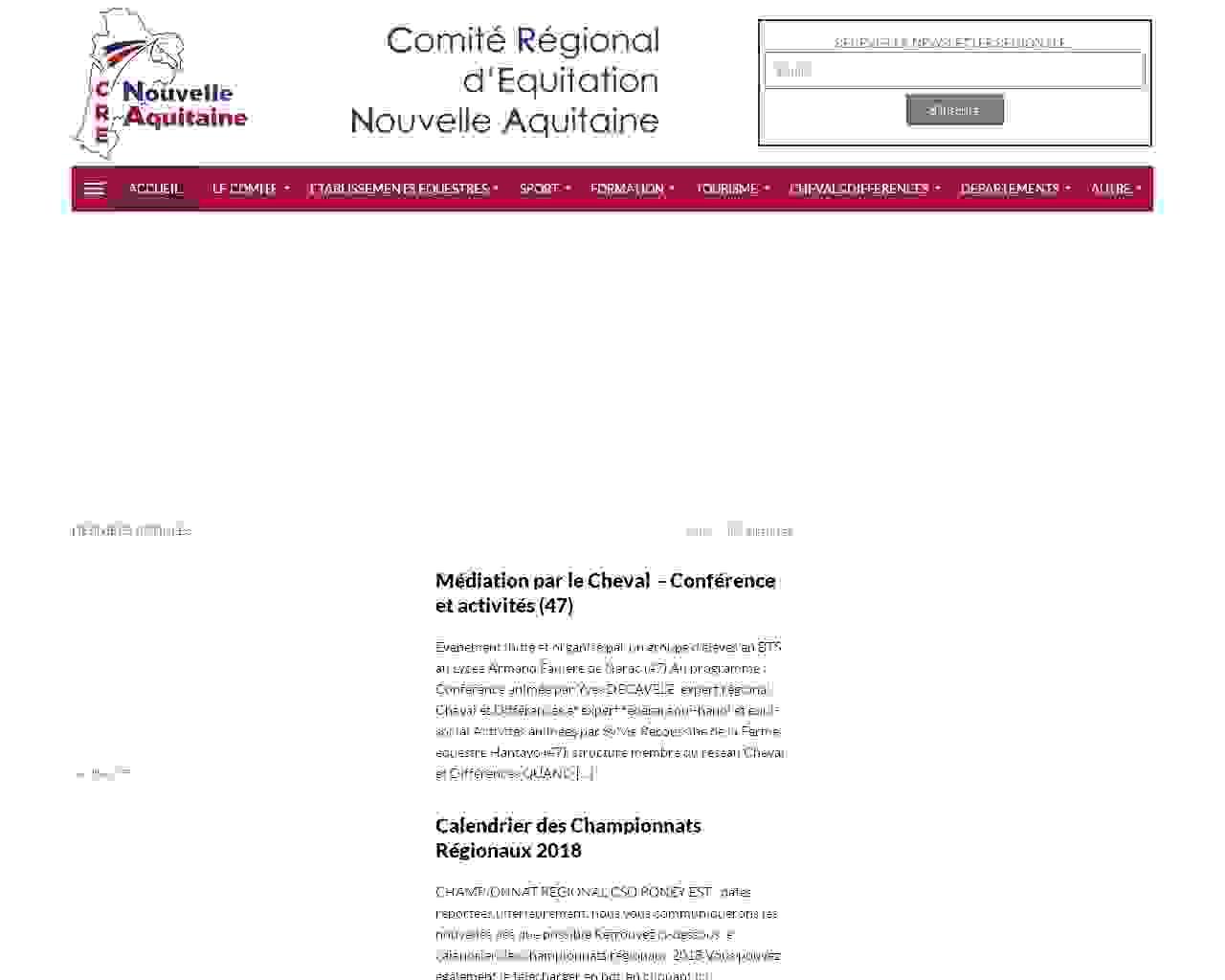Visuel du site CREA