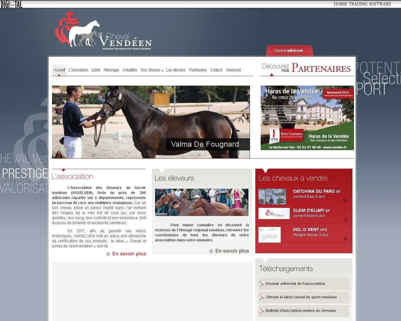 Visuel du site Association des Eleveurs du Terroir Vendéen