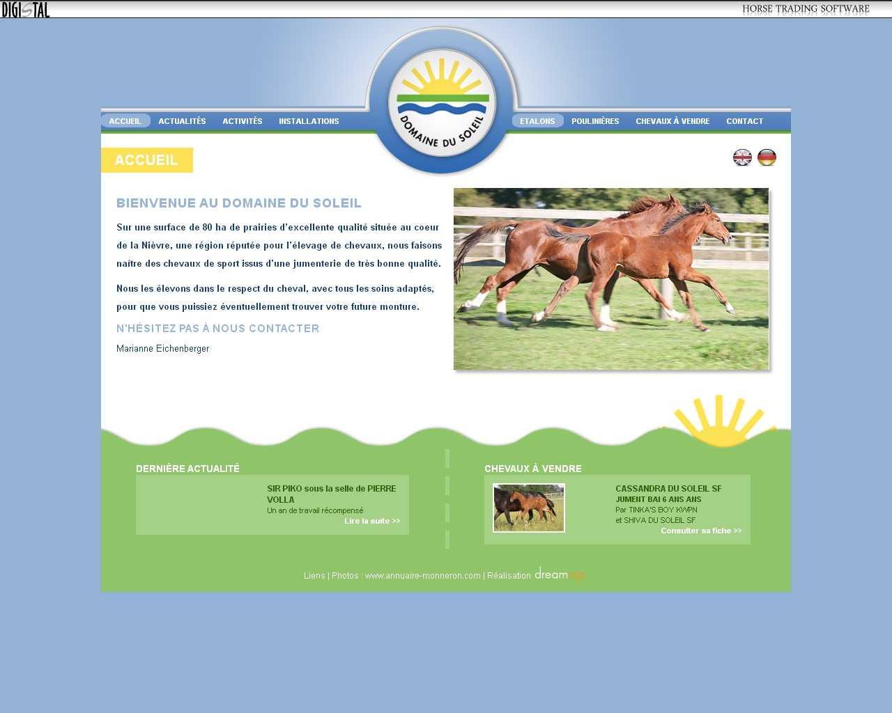 Visuel du site Domaine du soleil