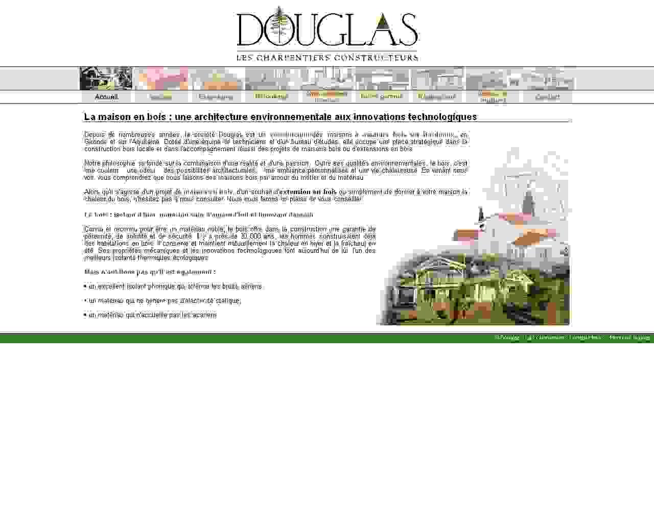 Visuel du site Douglas Bois