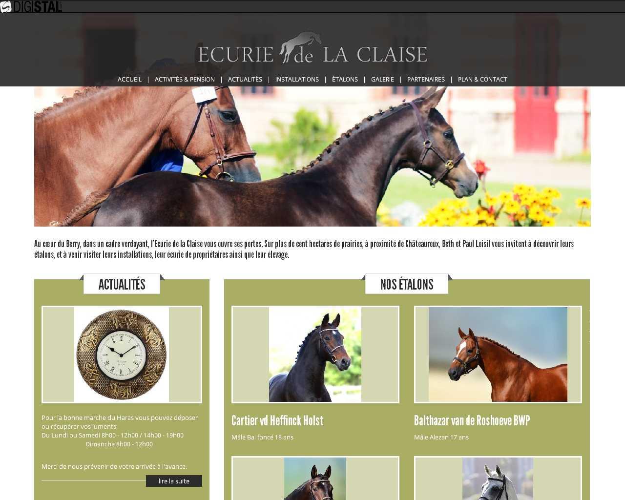 Visuel du site Ecurie de la Claise
