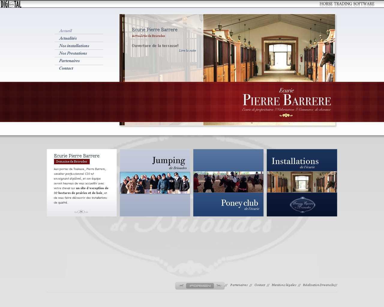 Visuel du site Ecurie Pierre Barrere
