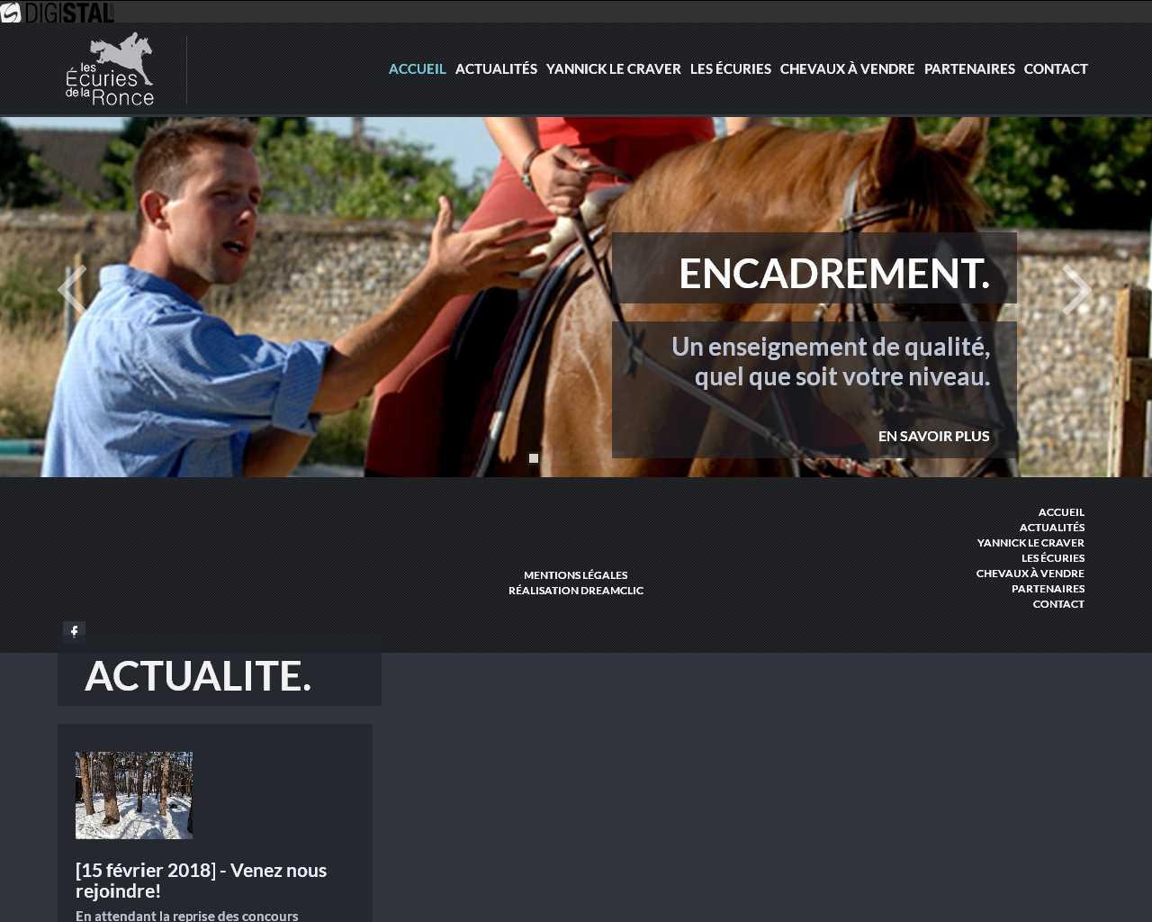Visuel du site Ecuries de la Ronce