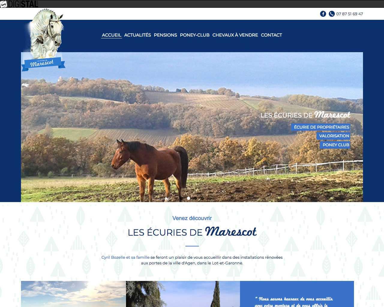 Visuel du site Ecuries de Marescot