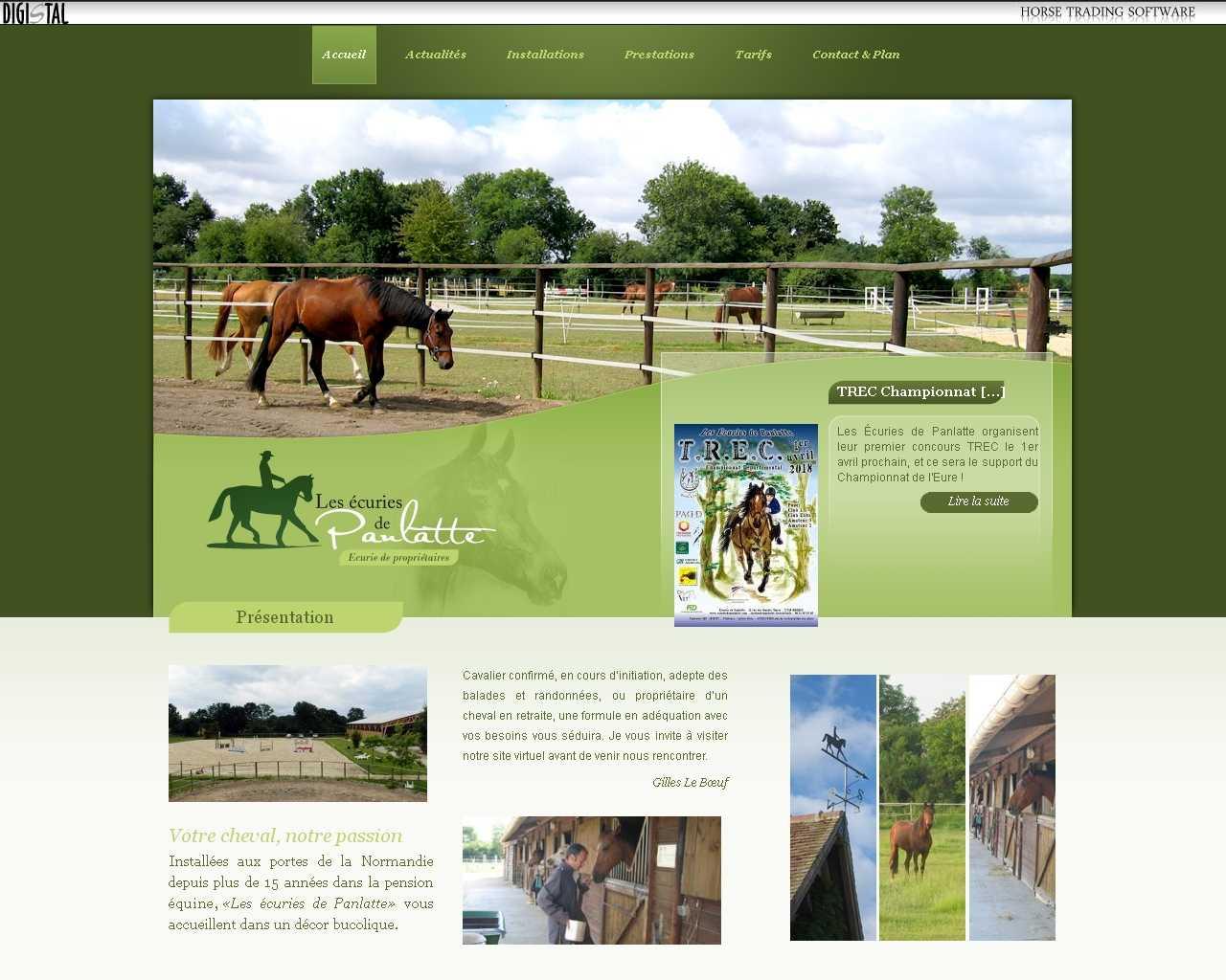 Visuel du site EARL des Bruyères de Panlatte