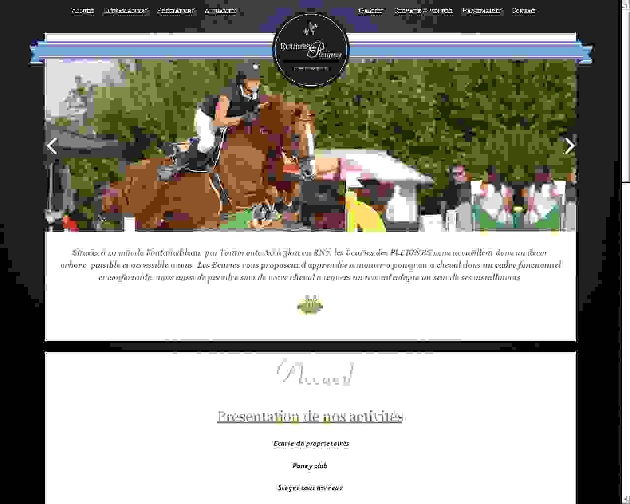 Visuel du site Ecuries des Pleignes