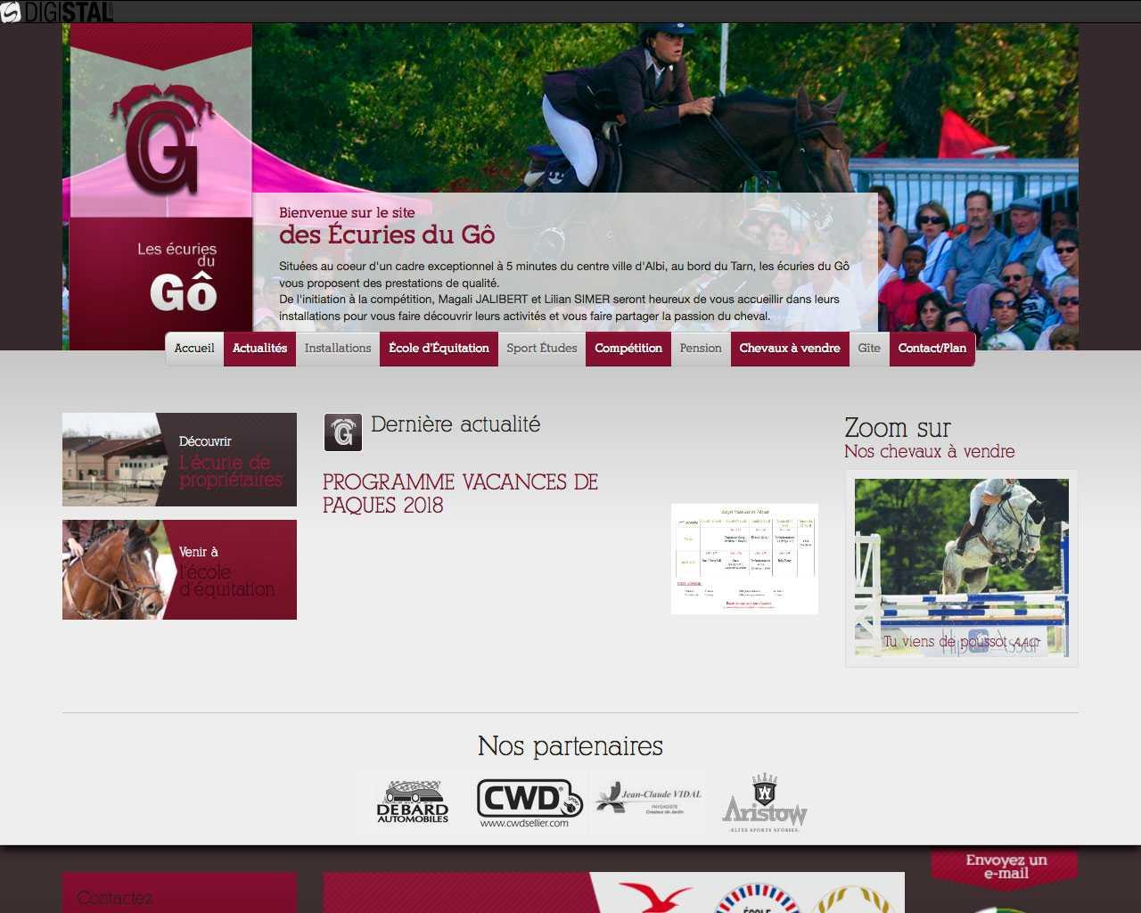 Visuel du site SCEA Les écuries du Gô