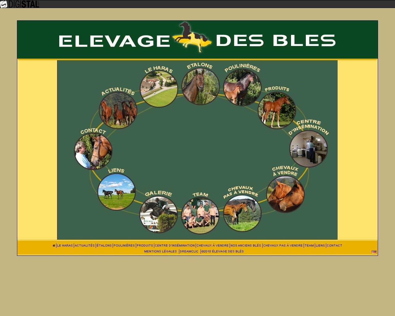 Visuel du site Elevage des Blés