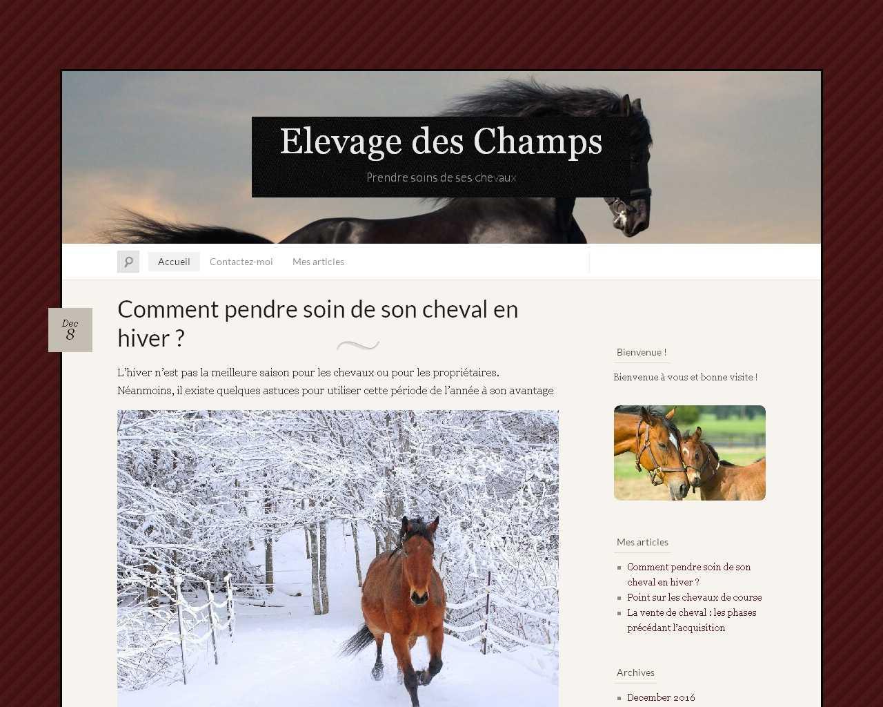 Elevage des Champs