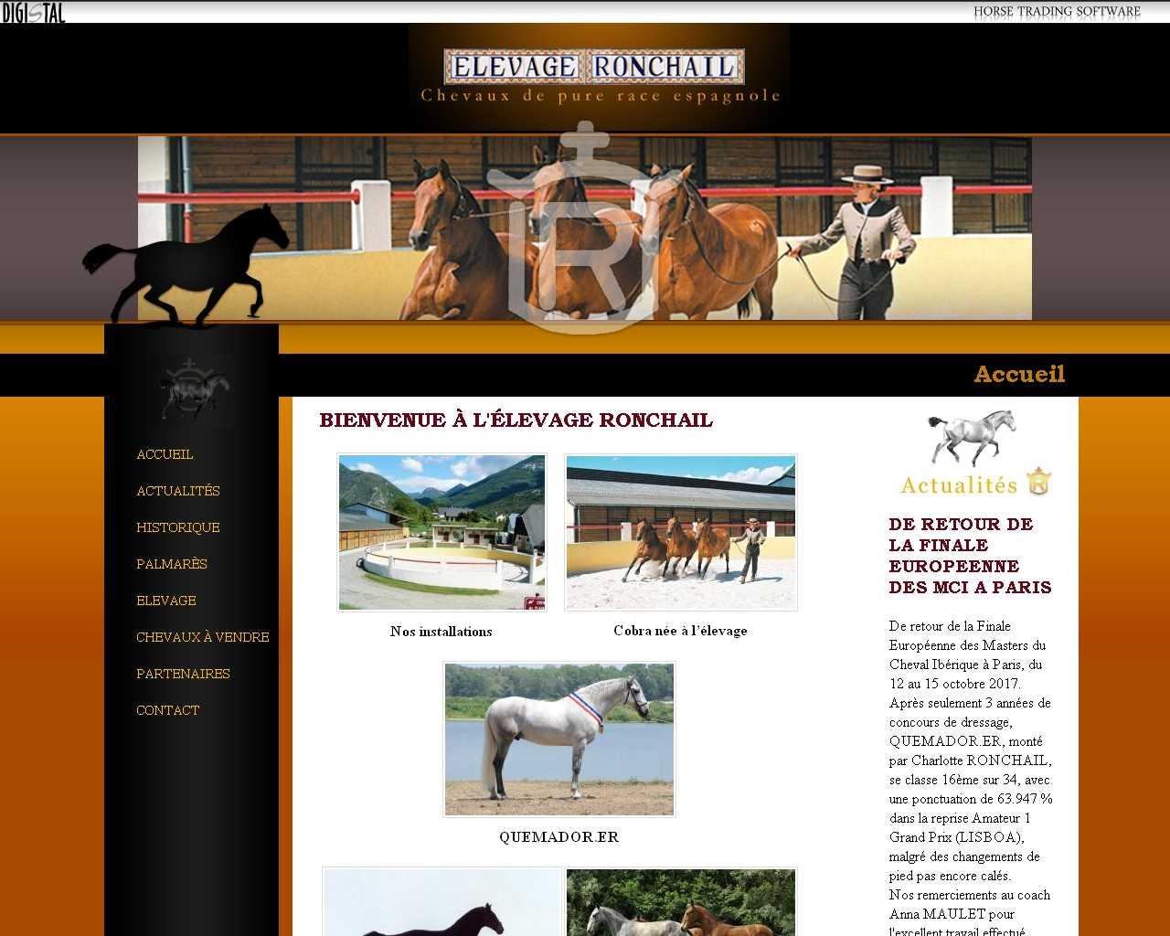 Visuel du site Elevage Ronchail