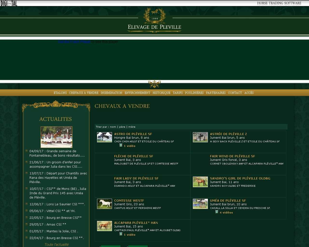 Visuel du site Elevage de Pléville
