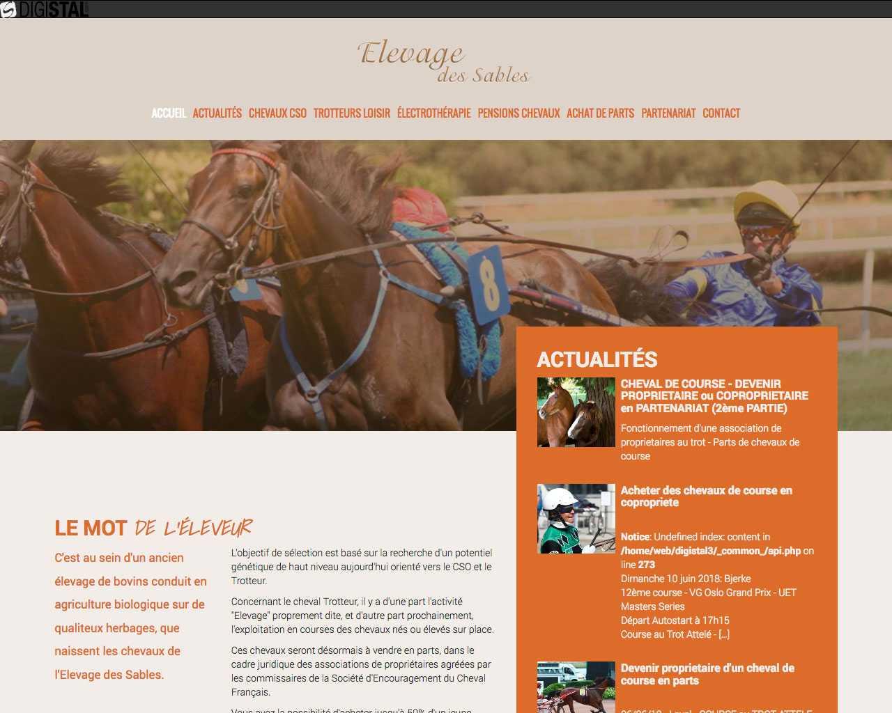 Visuel du site GAEC Des sables