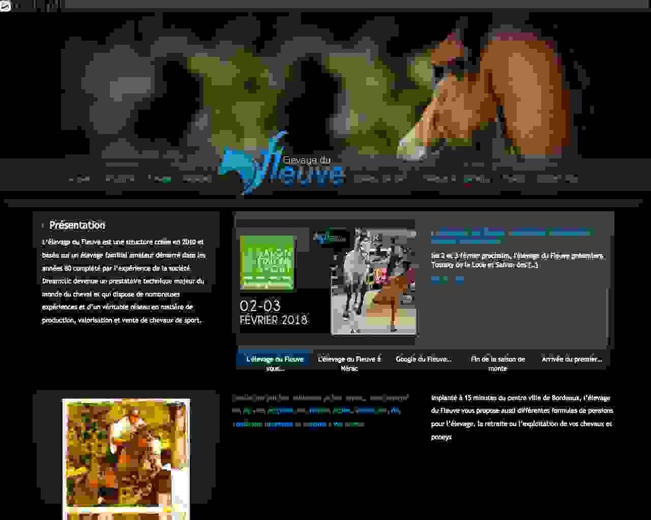 Visuel du site SCEA Elevage du Fleuve