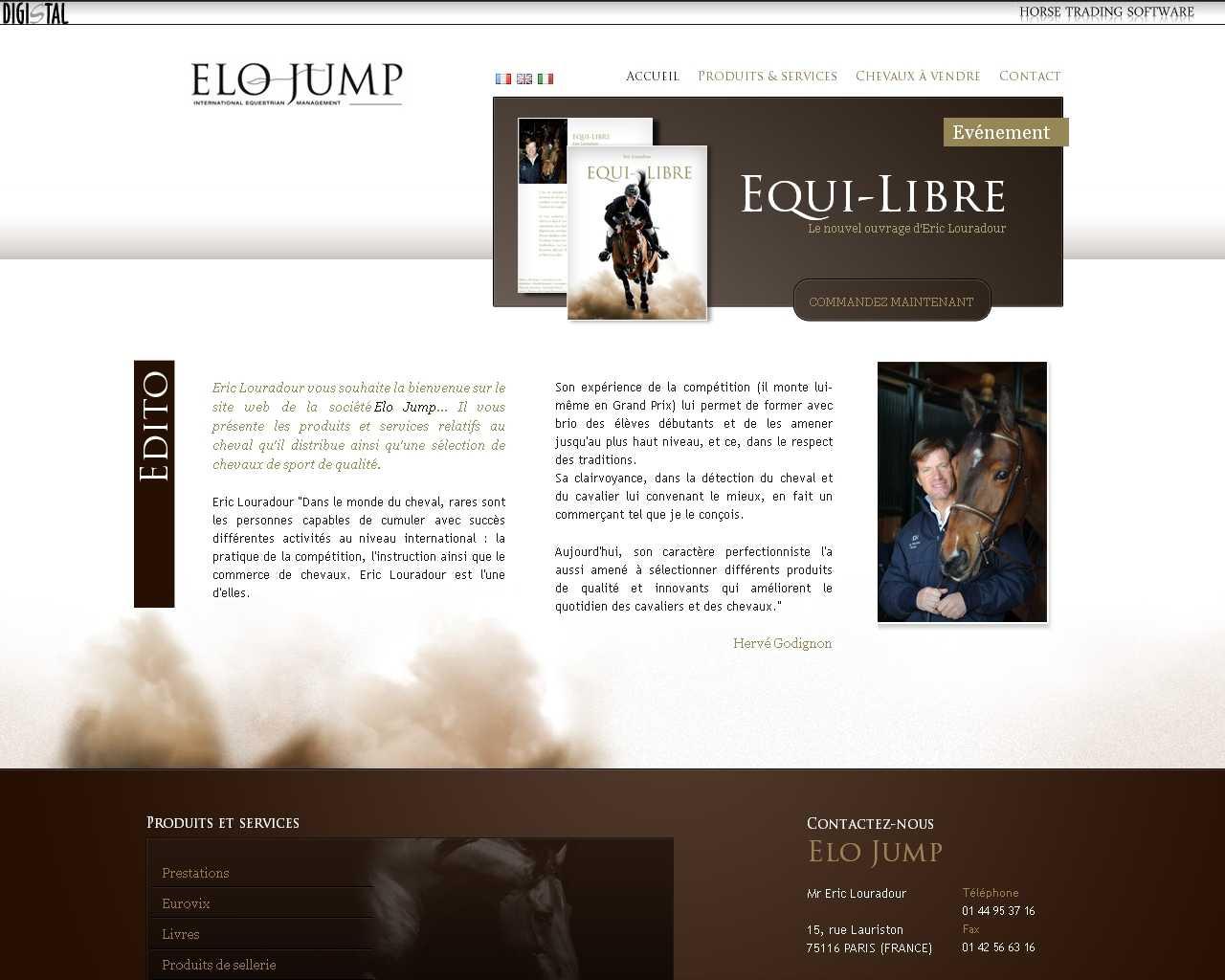 Visuel du site Elo Jump