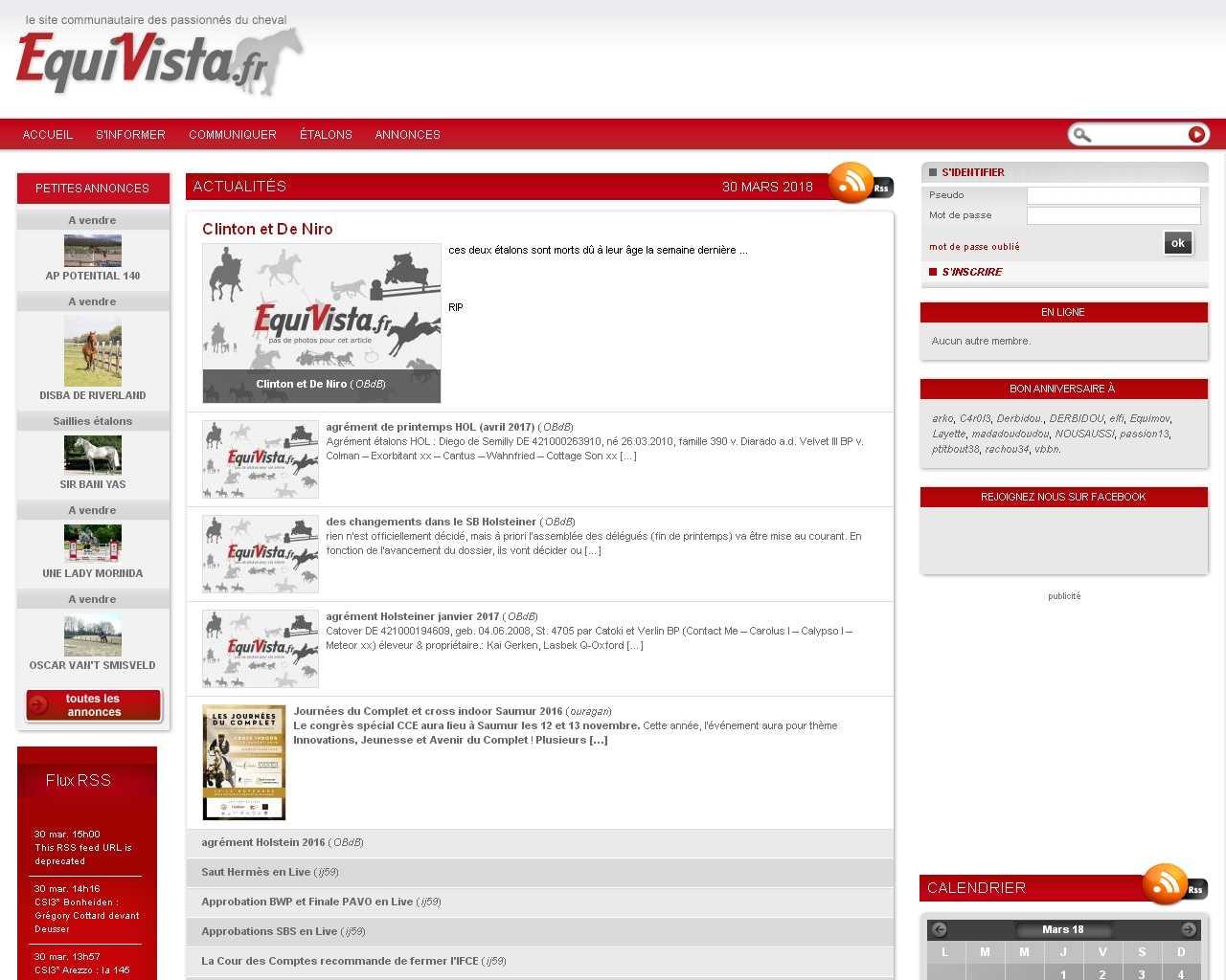Visuel du site Equivista