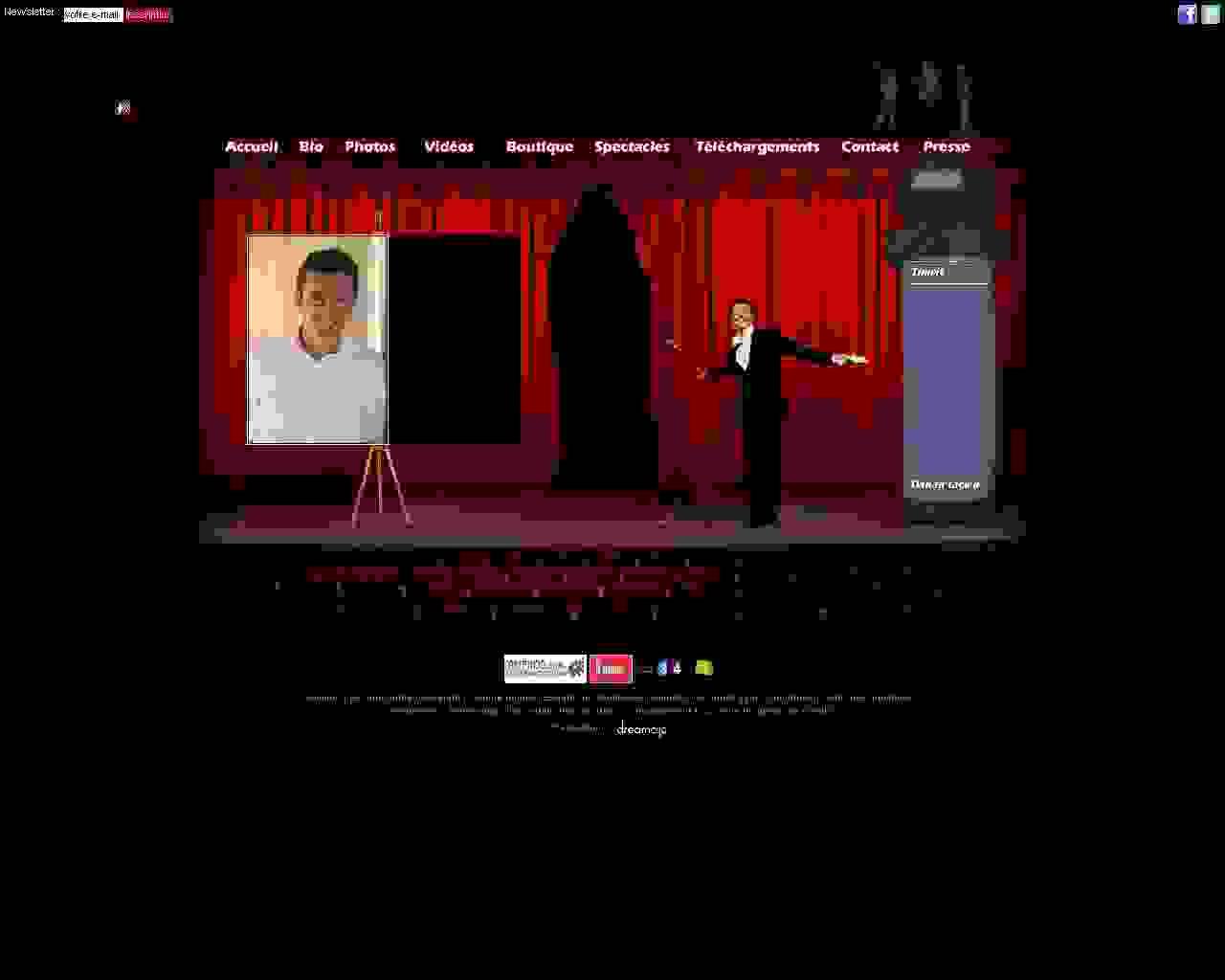 Visuel du site Gerald Dahan