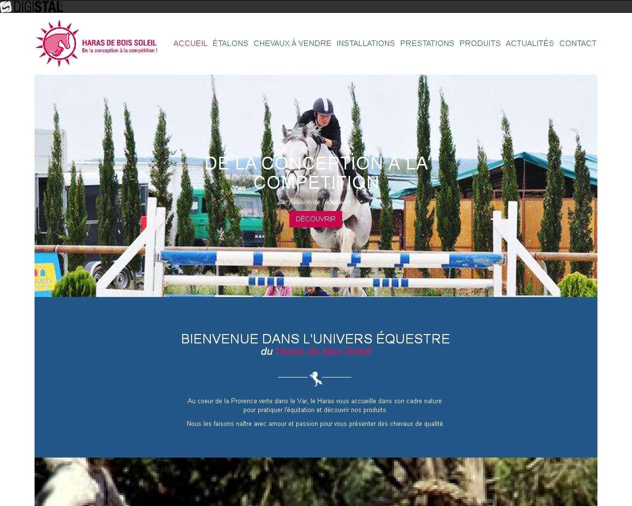 Visuel du site SARL Haras de Bois Soleil