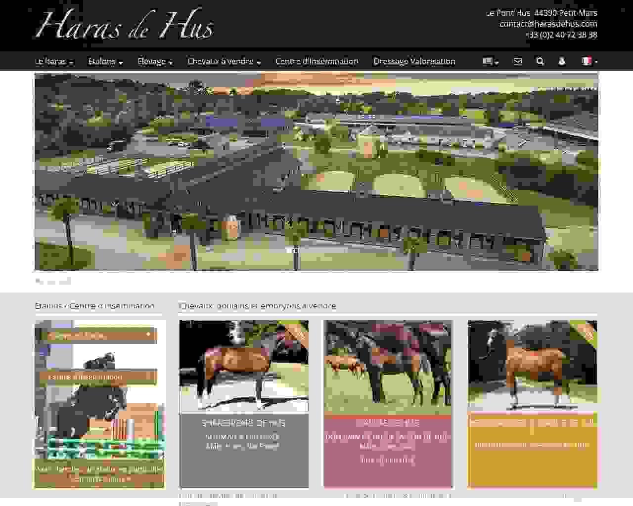 Visuel du site Haras de Hus