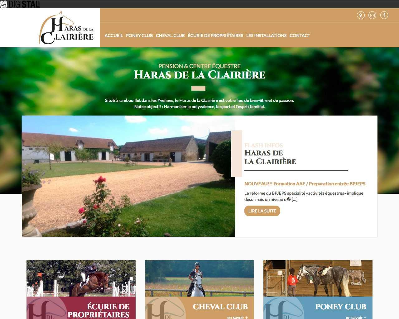 Visuel du site Haras de la Clairière