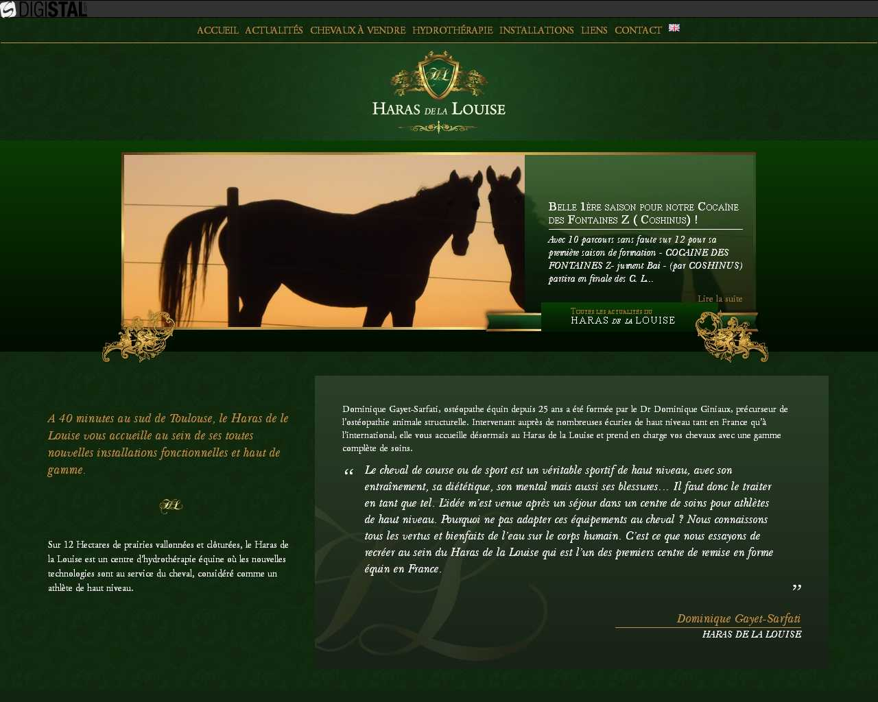 HARAS DE LA LOUISE un site Dreamclic