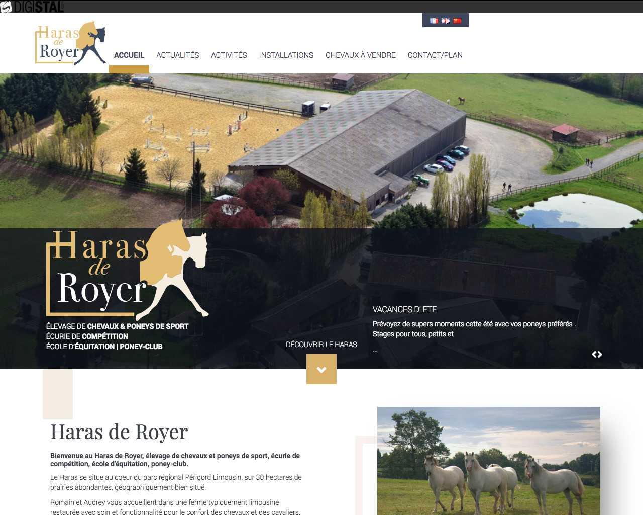 Visuel du site Haras de Royer