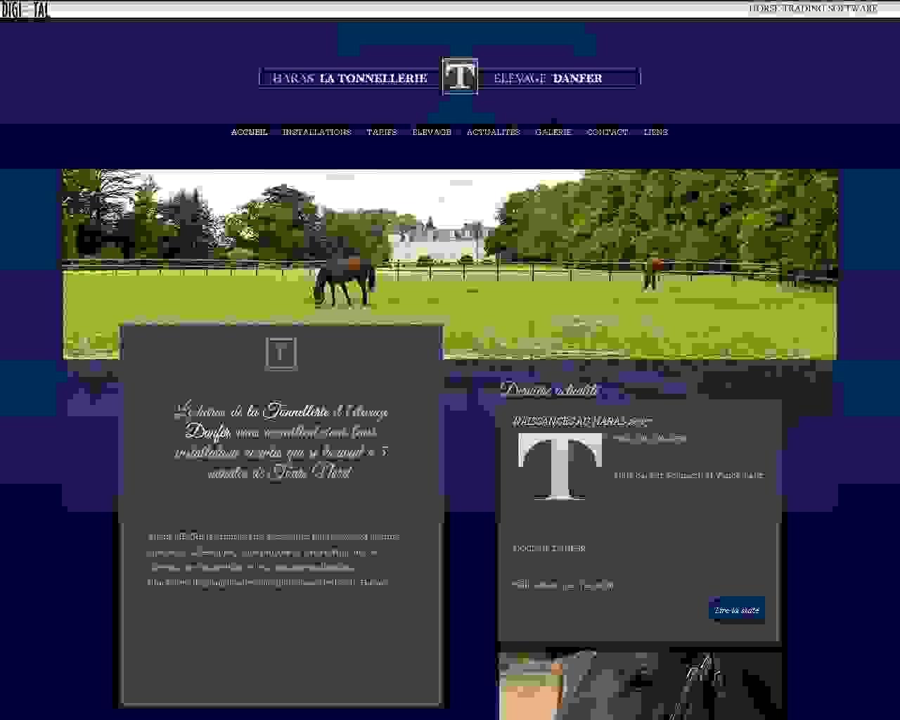 Visuel du site Haras la Tonnellerie