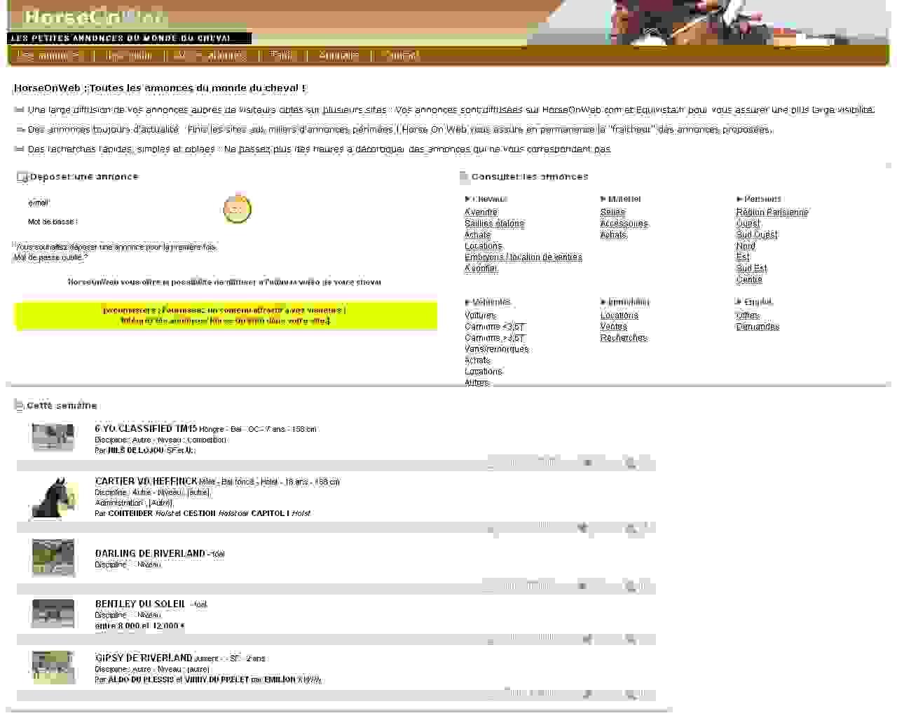 Horse On Web