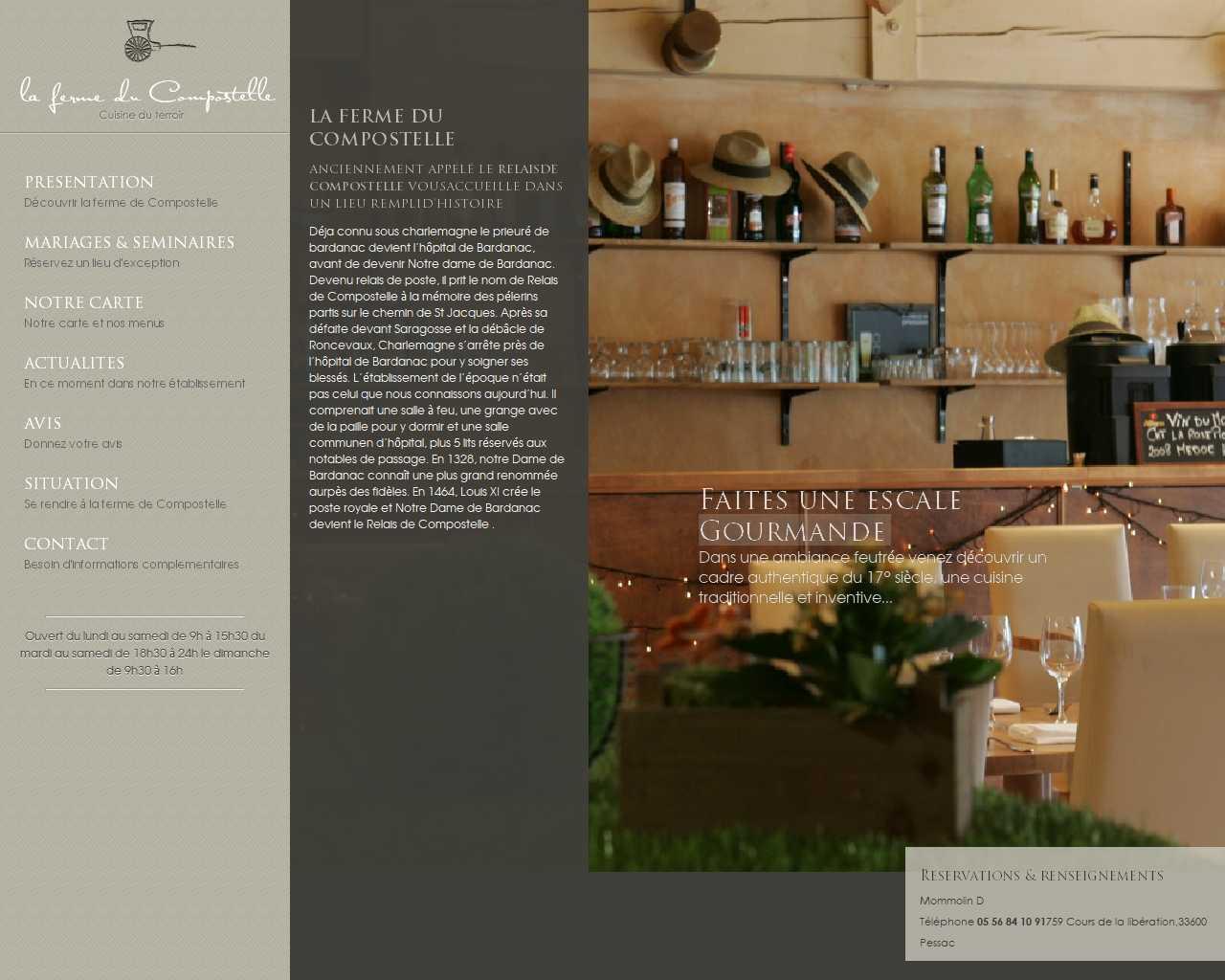Visuel du site La ferme du compostelle