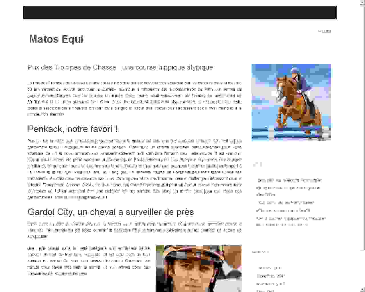 Visuel du site Ecurie des Lichères