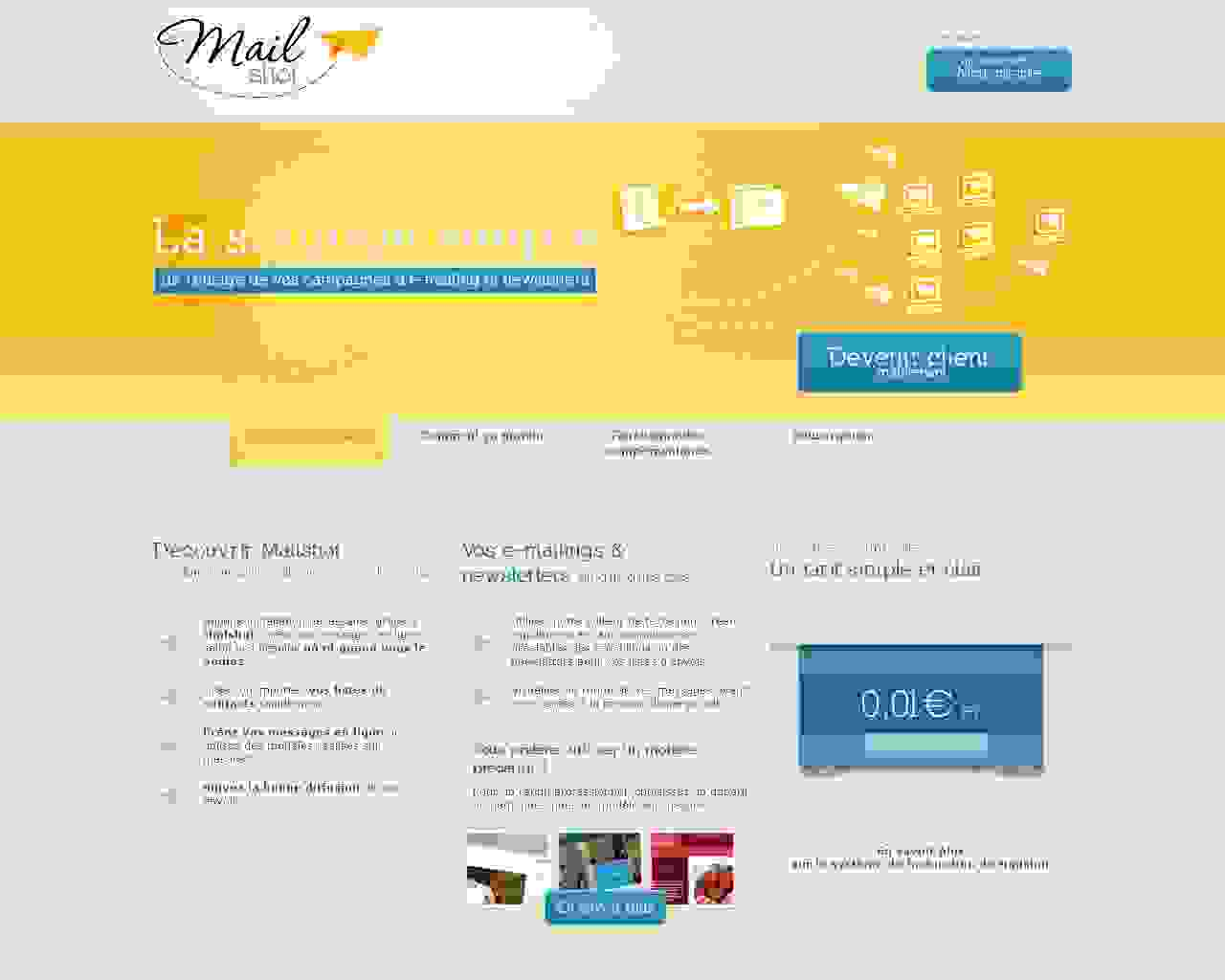 Mailshot un site Dreamclic