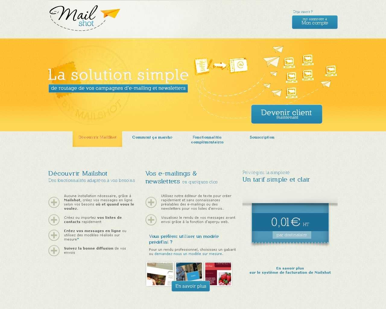 Visuel du site Mailshot