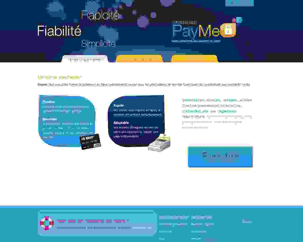 Visuel du site Payme
