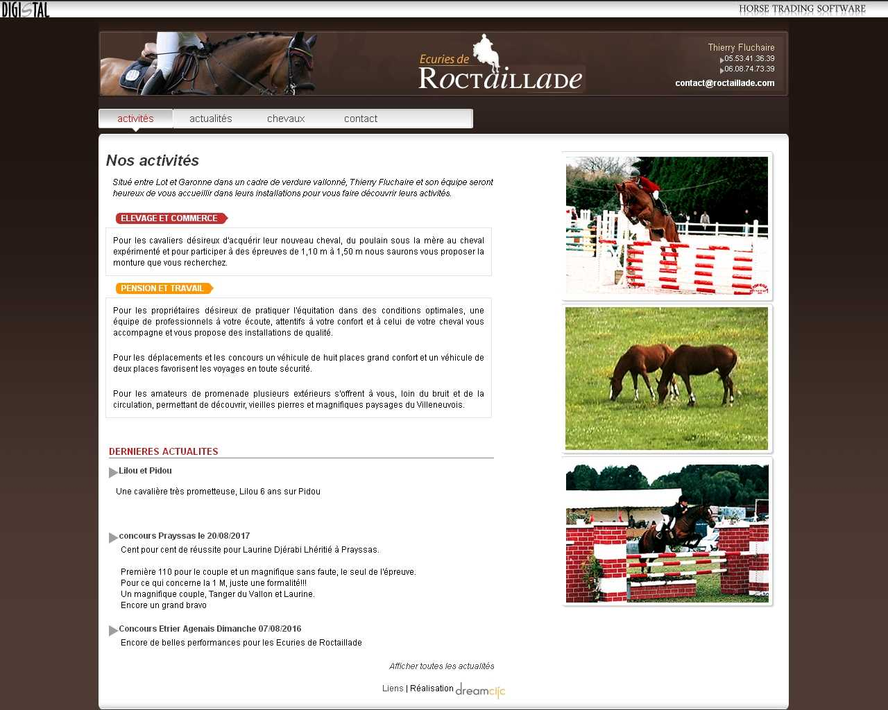 Visuel du site Ecuries de Roctaillade