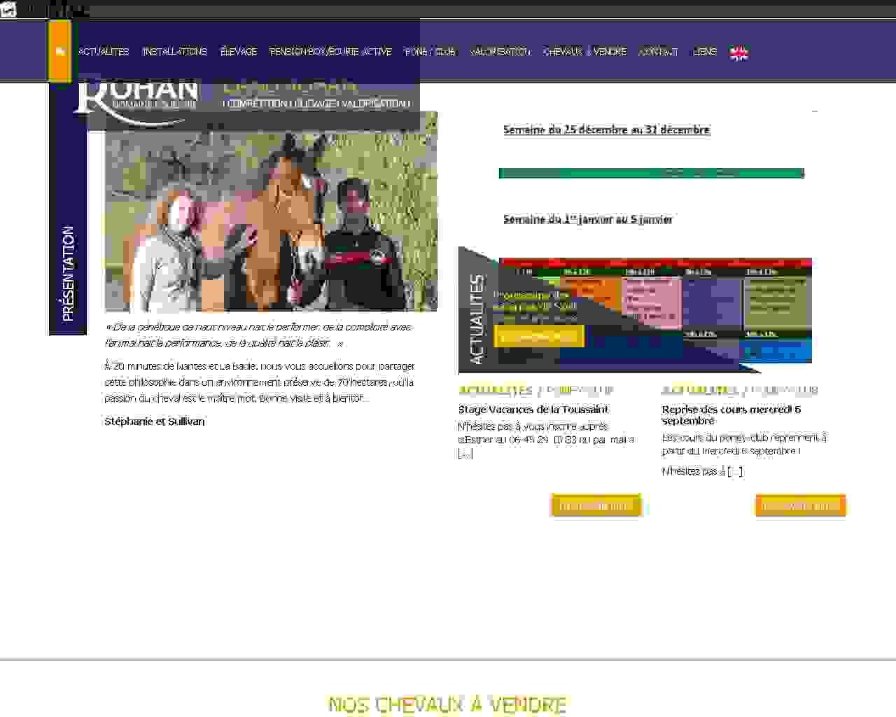 Visuel du site Site équestre Land Rohan