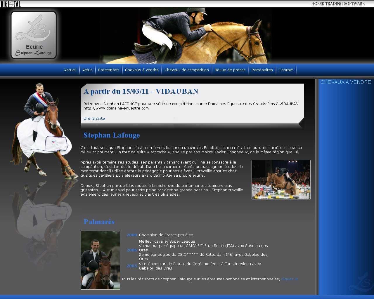 Visuel du site Stéphan Lafouge