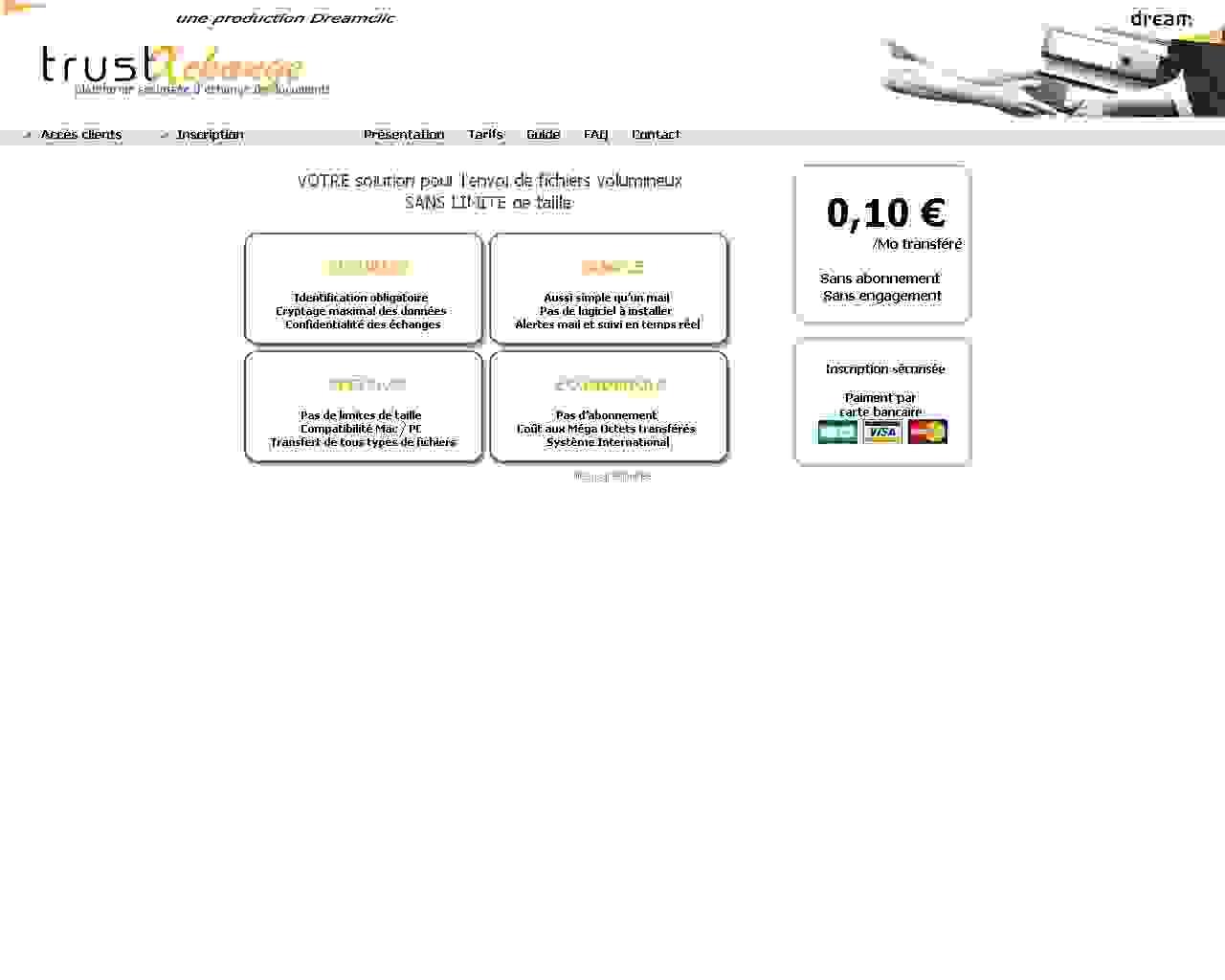 Visuel du site Trustxchange